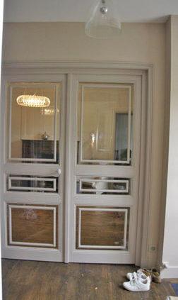 Porte intérieure vitrée - Menuiserie Agencement Général 44 à Nantes (44)